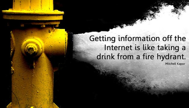 Content Curation is Needed. Getting information off the Internet is like taking a drink from a fire hydrant