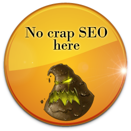 No crap SEO here badge