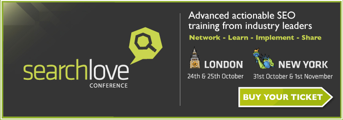 Searchlove by Distilled will be in London and New York