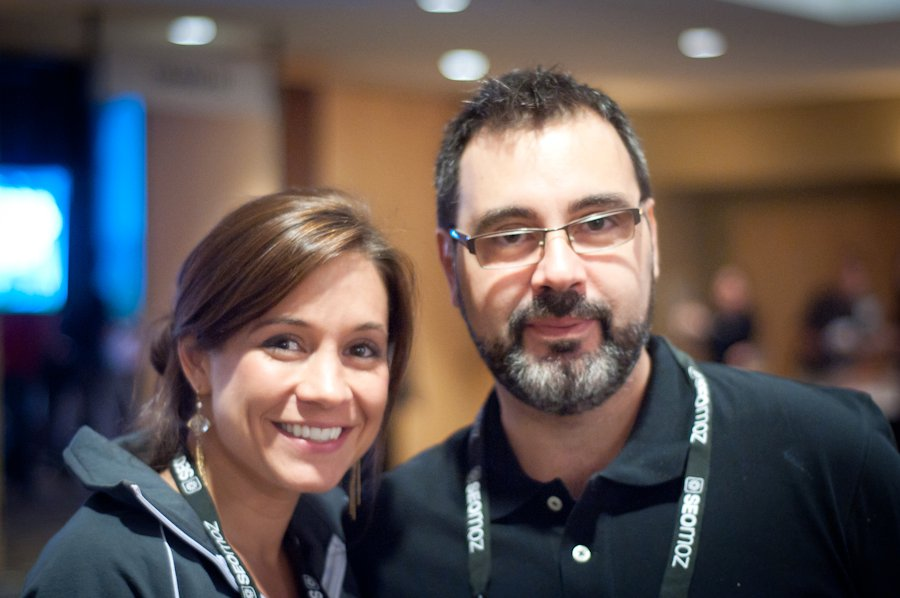Joanna Lord and I at Mozcon 2011