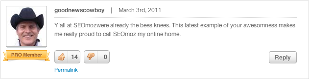 Screen shot Goodnewscowboy The spirit of @Moz. An open letter to the community