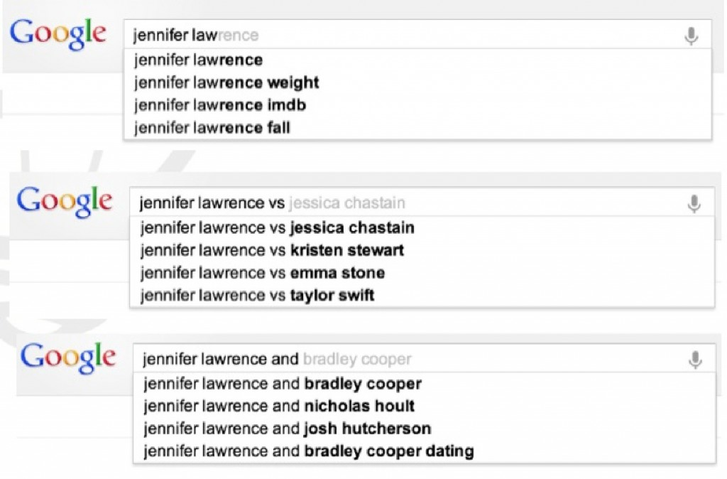 jennifer lawrence google suggest