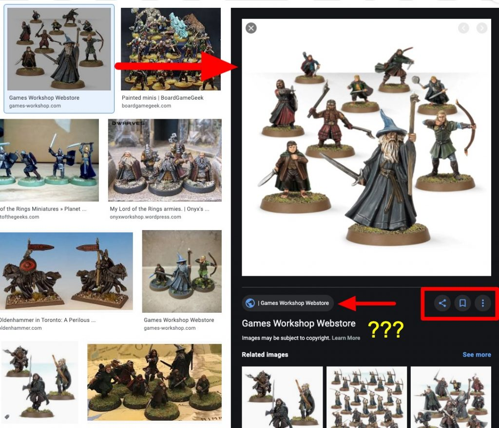 Example of badly optimized image search result