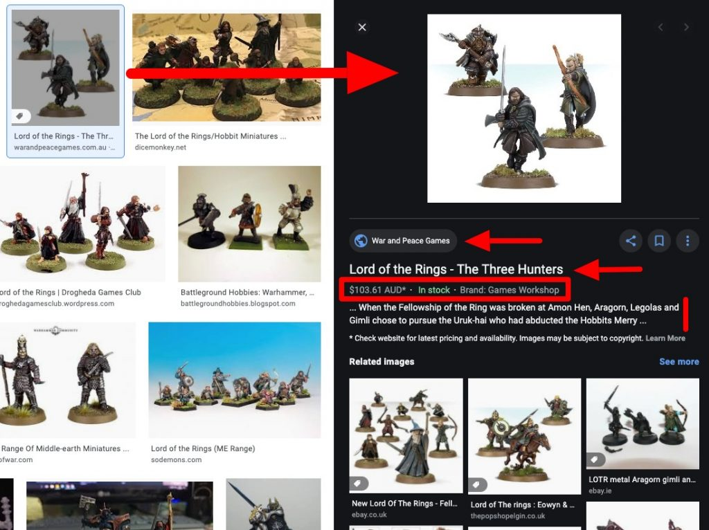 Example of optimized image search result