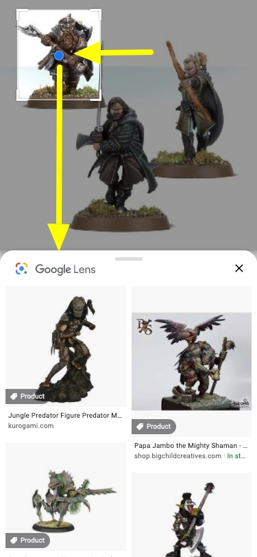 Google Lens in Mobile Images Search example