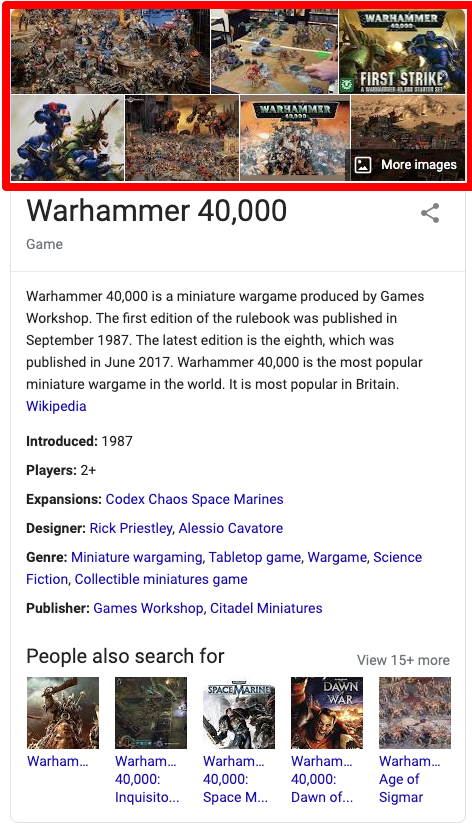warhammer 40000 Knowledge Graph