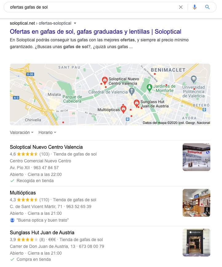 Example of local transactional search